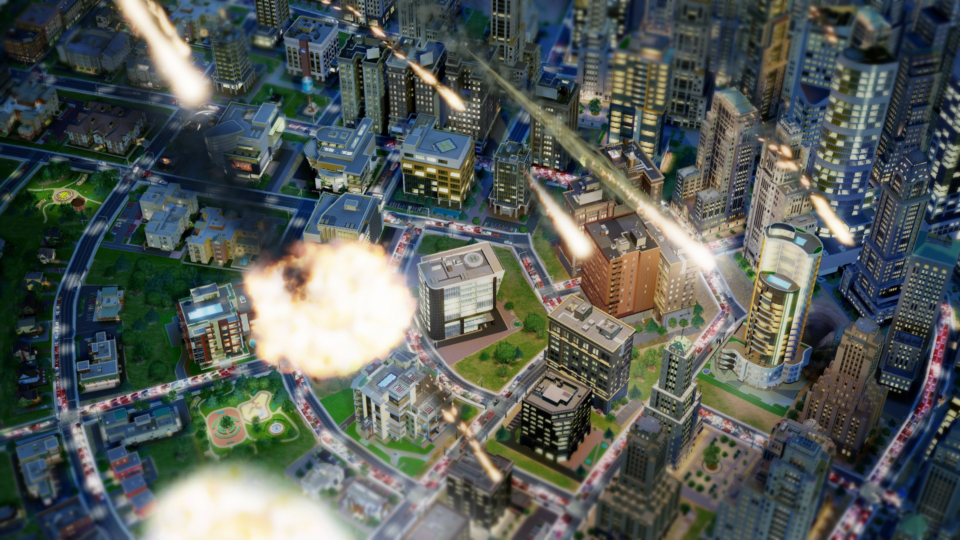 simcity disasters μετεωρίτης